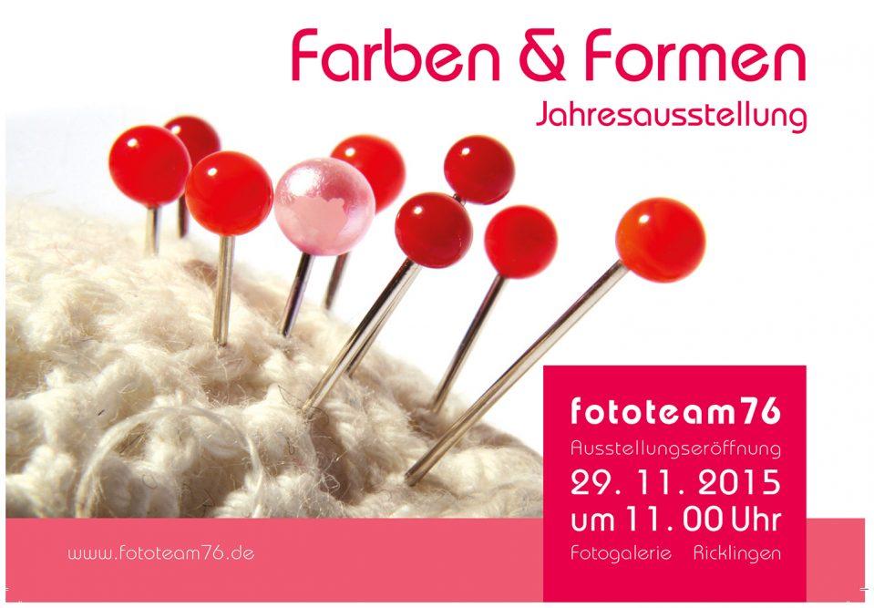 Einladungskarte Farben und Formen
