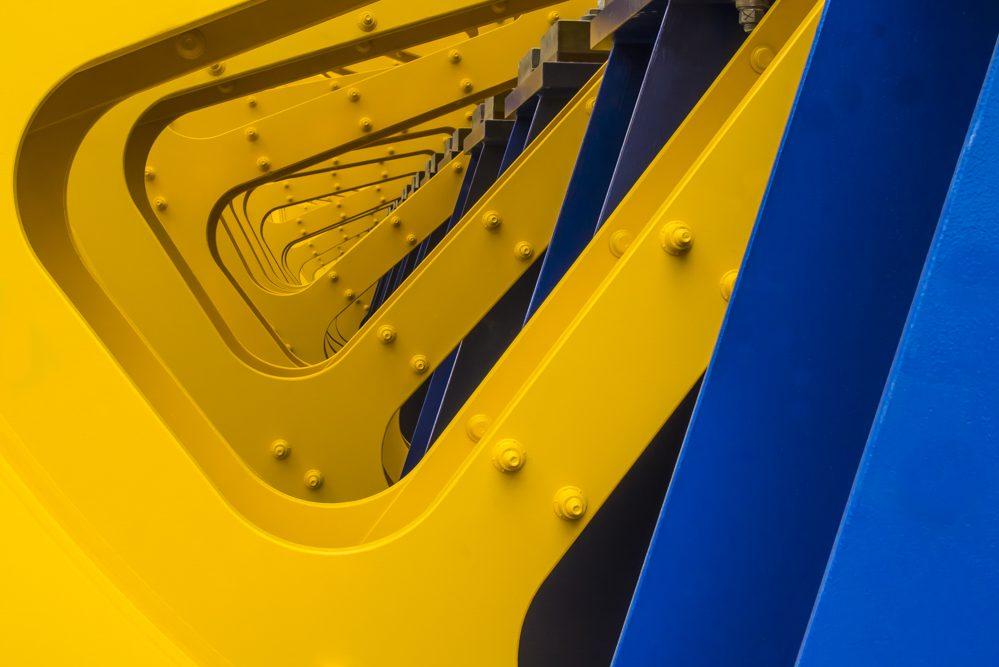 Platz 15 - Horst Wienberg - Gelb - Blau