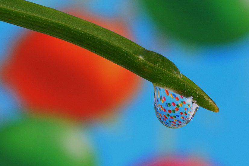 Platz 7 - Günter Deitermann - Luftballons im Wassertropfen